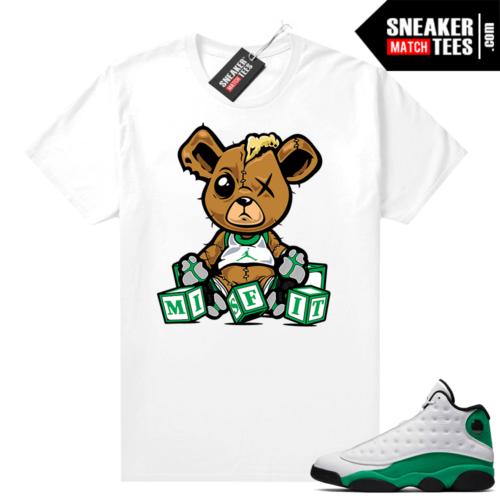 Match Lucky Green 13s Jordan Match Tees Shirt White Misfit Teddy