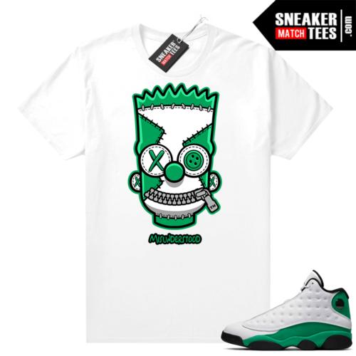 Match Lucky Green 13s Jordan Match Tees Shirt White Misunderstood Bart