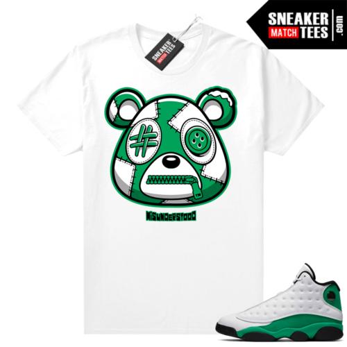 Match Lucky Green 13s Jordan Match Tees Shirt White Misunderstood Bear
