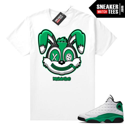 Match Lucky Green 13s Jordan Match Tees Shirt White Misunderstood Bunny