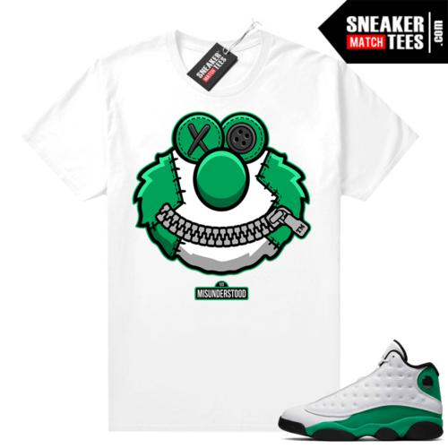 Match Lucky Green 13s Jordan Match Tees Shirt White Misunderstood Elmo