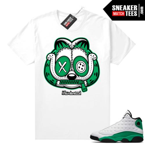 Match Lucky Green 13s Jordan Match Tees Shirt White Misunderstood Garfield