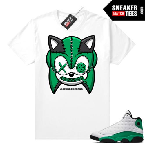 Match Lucky Green 13s Jordan Match Tees Shirt White Misunderstood Hedgehog