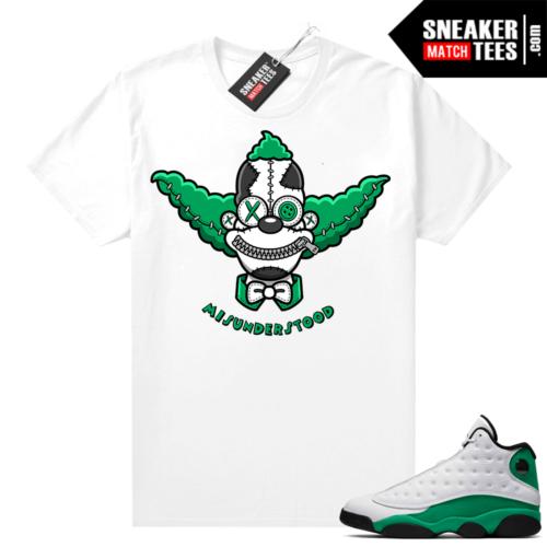 Match Lucky Green 13s Jordan Match Tees Shirt White Misunderstood Krusty the Clown