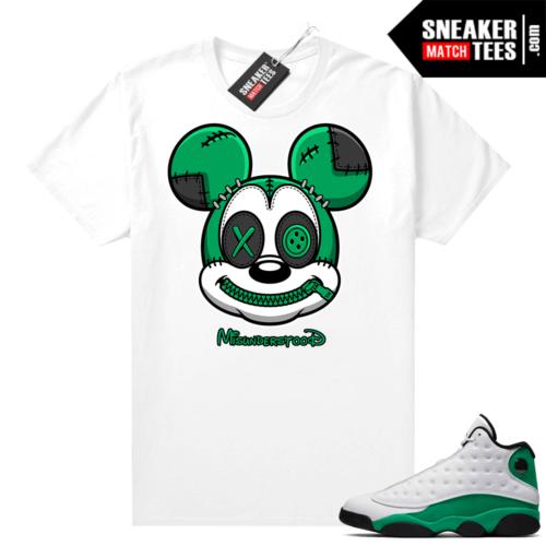 Match Lucky Green 13s Jordan Match Tees Shirt White Misunderstood Mickey