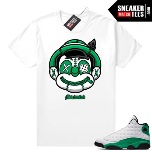 Match Lucky Green 13s Jordan Match Tees Shirt White Misunderstood Pinocchio