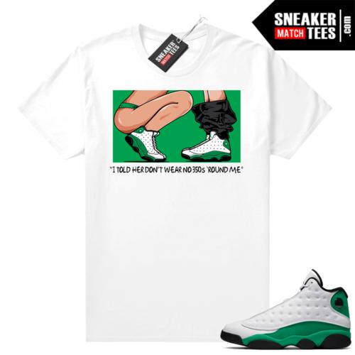 Match Lucky Green 13s Jordan Match Tees Shirt White No 350s
