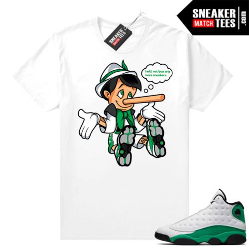 Match Lucky Green 13s Jordan Match Tees Shirt White No More Sneakers