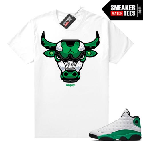 Match Lucky Green 13s Jordan Match Tees Shirt White Rare Air Bull