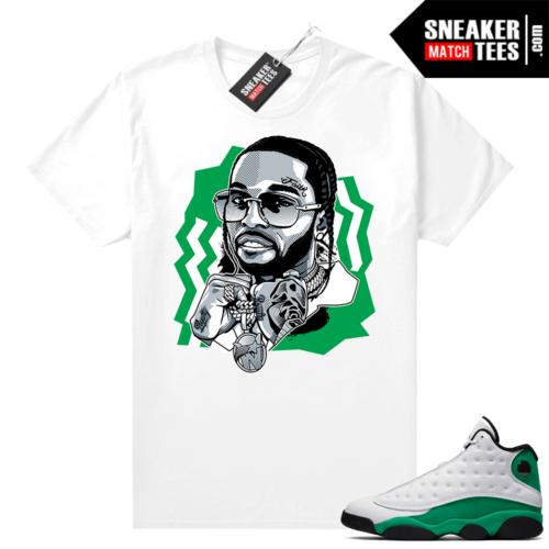 Match Lucky Green 13s Jordan Match Tees Shirt White The Woo
