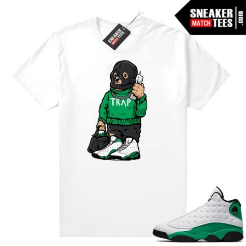 Match Lucky Green 13s Jordan Match Tees Shirt White Trap Bear