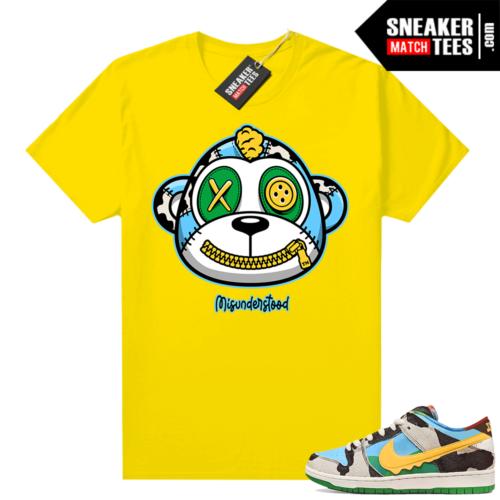 Misunderstood Monkey ™ Chunky Dunky Dunks Yellow Shirt