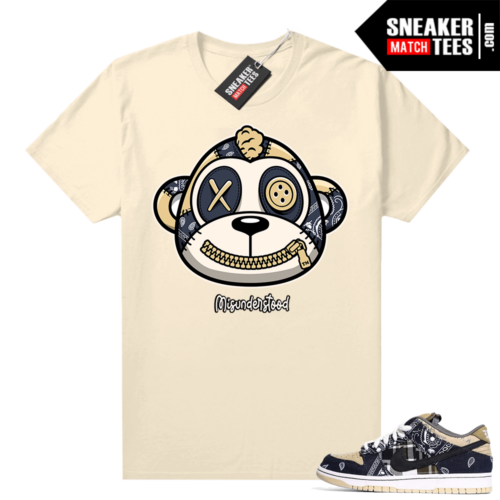 Misunderstood Monkey ™ Travis Scott Dunks Tan Shirt