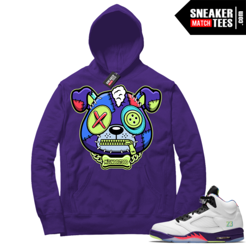 Match Alternate Bel Air 5s Hoodie Purple