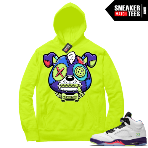 Match Alternate Bel Air 5s Hoodie Volt