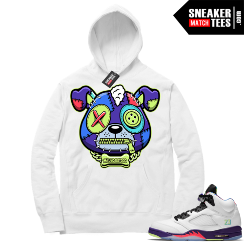 Match Alternate Bel Air 5s Hoodie White