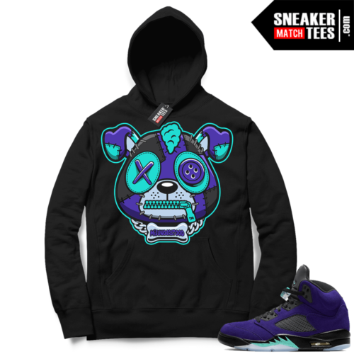Match Alternate Grape 5s Hoodie Black