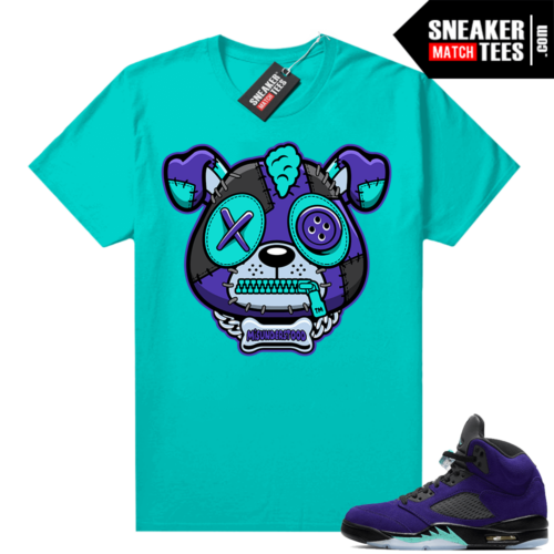 Misunderstood Puppy Alternate Grape 5s Match Tee Aqua