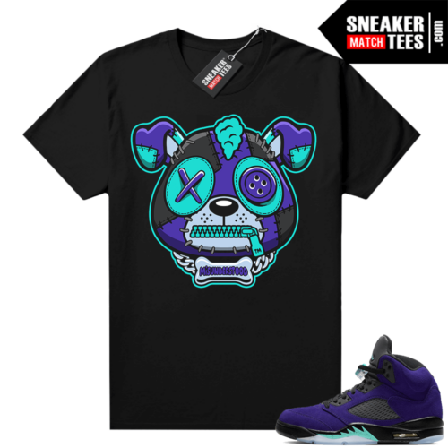 Misunderstood Puppy Alternate Grape 5s Match Tee Black