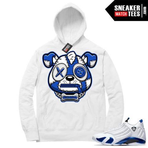 Match Hyper Royal 14s Hoodie White