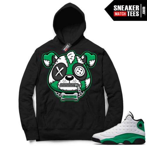 Match Lucky Green 13s Hoodie Black