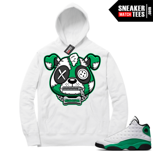 Match Lucky Green 13s Hoodie White