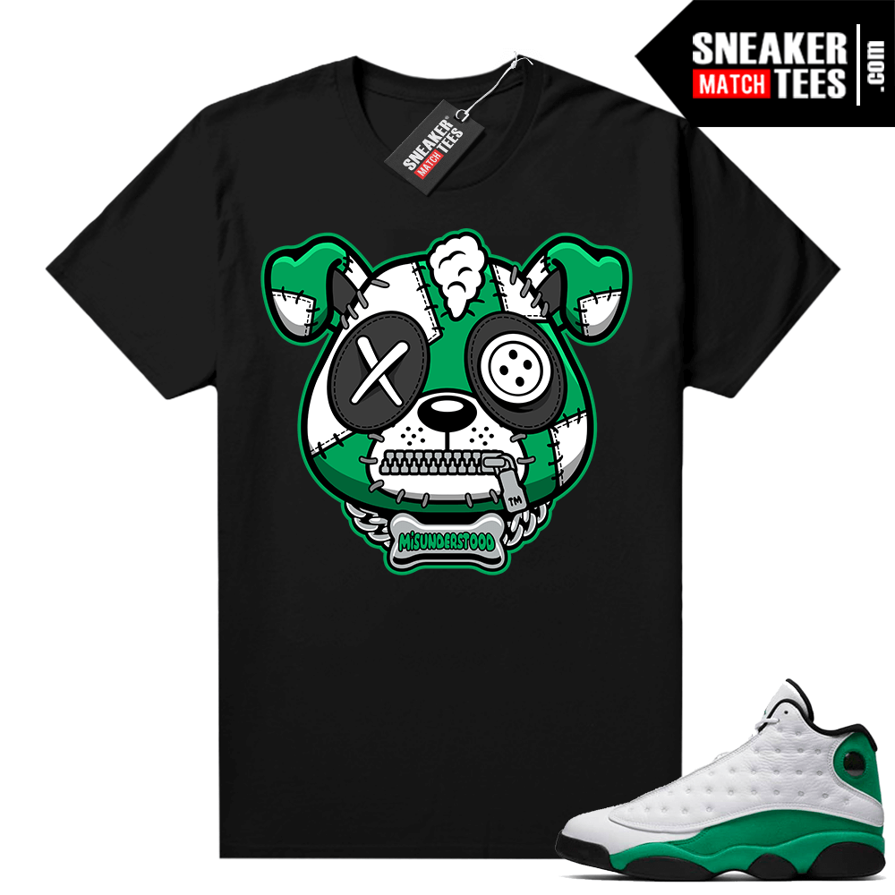 Misunderstood Puppy Lucky Green 13s Match Tee Black