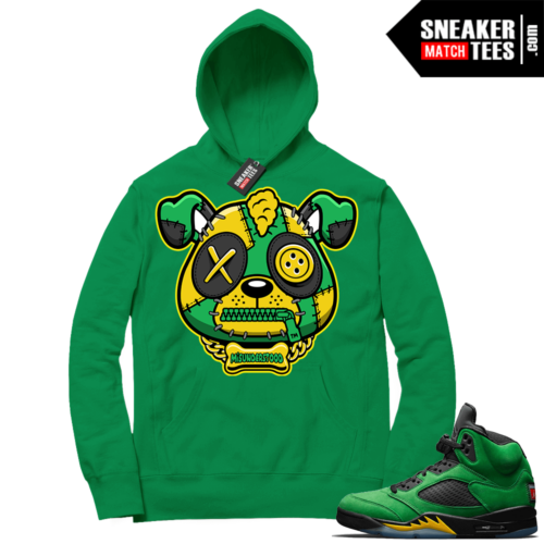 Match Oregon 5s Hoodie Green