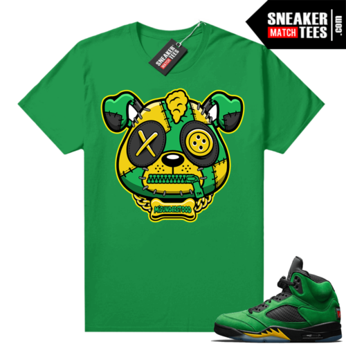 Misunderstood Puppy Oregon 5s Match Tee Green