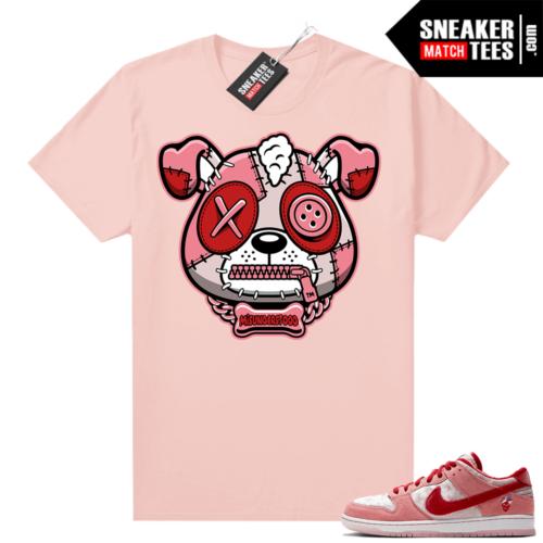 Misunderstood Puppy Strangelove SB Dunks Match Tee Pink