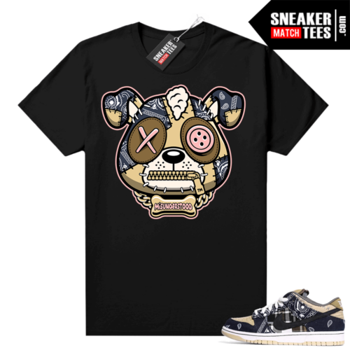 Misunderstood Puppy Travis Scott SB Dunks Match Tee Black