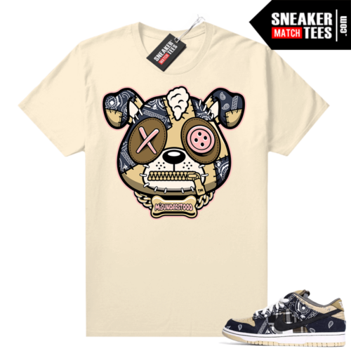 Misunderstood Puppy Travis Scott SB Dunks Match Tee Tan