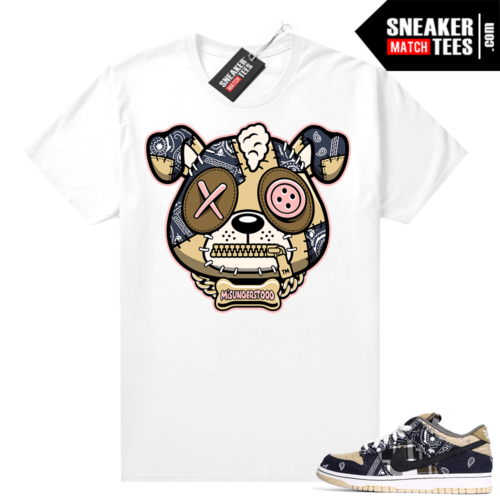 Misunderstood Puppy Travis Scott SB Dunks Match Tee White