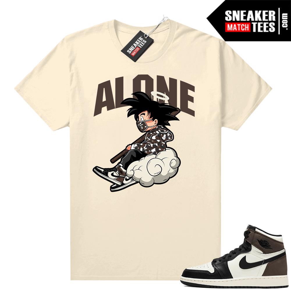 Mocha 1s sneaker tees Sail Alone