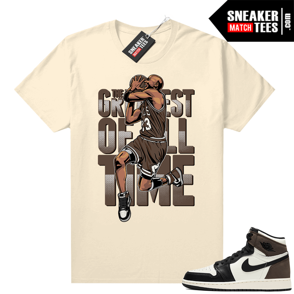 Mocha 1s sneaker tees Sail Greatest of All time V3