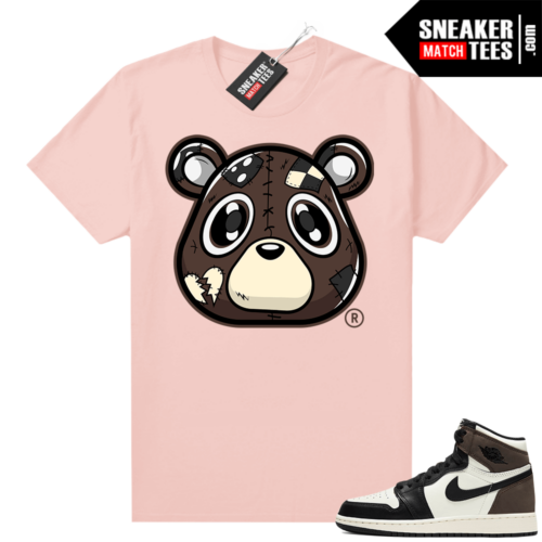Mocha 1s sneaker tees shirts Pink Heartless Bear