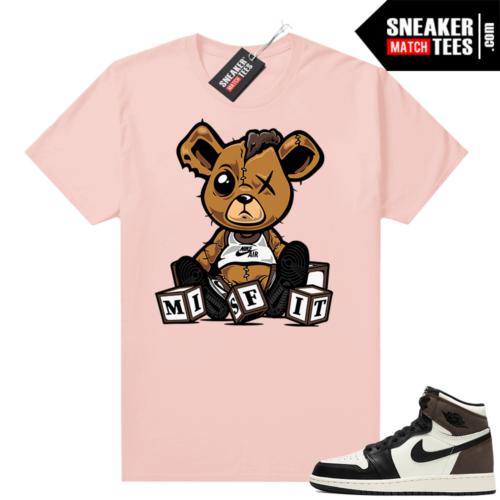 Mocha 1s sneaker tees shirts Pink Misfit Teddy