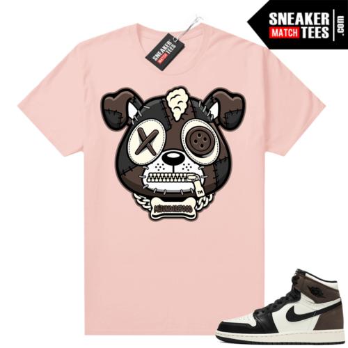 Mocha 1s sneaker tees shirts Pink Misunderstood Puppy
