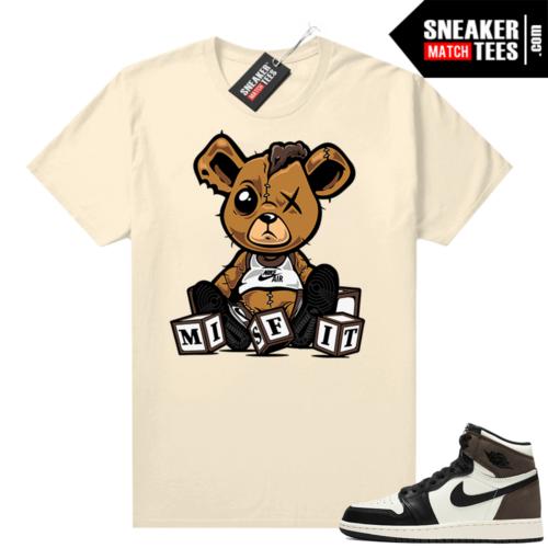 Mocha 1s sneaker tees shirts Sail Misfit Teddy