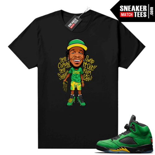 Oregon 5s Jay the Sneaker Guy shirt Jay Laces Toon