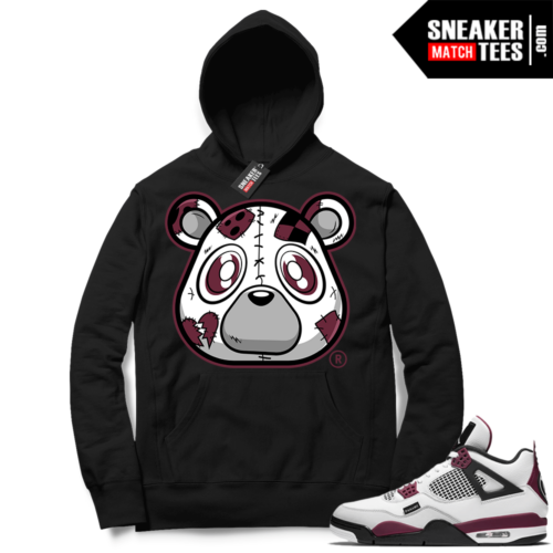PSG 4s Sneaker Match Hoodie Heartless Bear Black