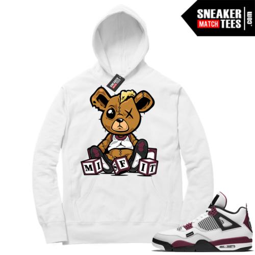PSG 4s Sneaker Match Hoodie Misfit Teddy White
