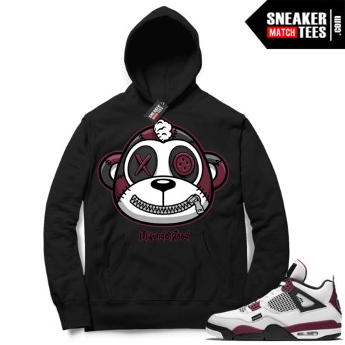 PSG 4s Sneaker Match Hoodie Misunderstood Monkey Black
