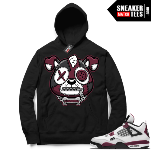 PSG 4s Sneaker Match Hoodie Misunderstood Puppy Black