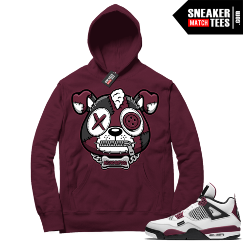 PSG 4s Sneaker Match Hoodie Misunderstood Puppy Maroon