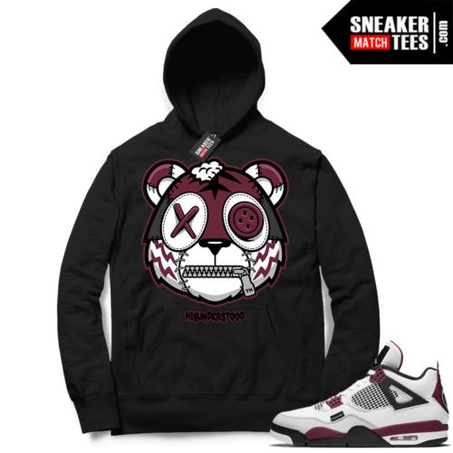 PSG 4s Sneaker Match Hoodie Misunderstood Tiger Black