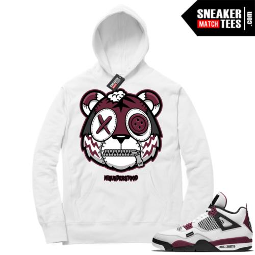 PSG 4s Sneaker Match Hoodie Misunderstood Tiger White