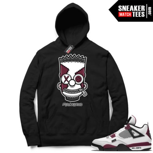 PSG 4s Sneaker Match Hoodie Misunderstood x Bart Black