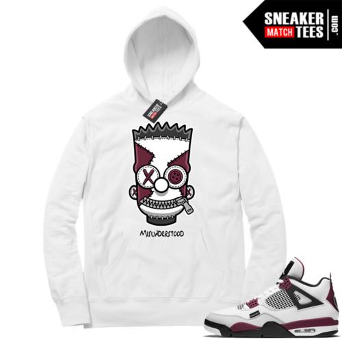 PSG 4s Sneaker Match Hoodie Misunderstood x Bart White