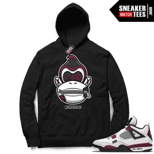 PSG 4s Sneaker Match Hoodie Misunderstood x Donkey Kong Black